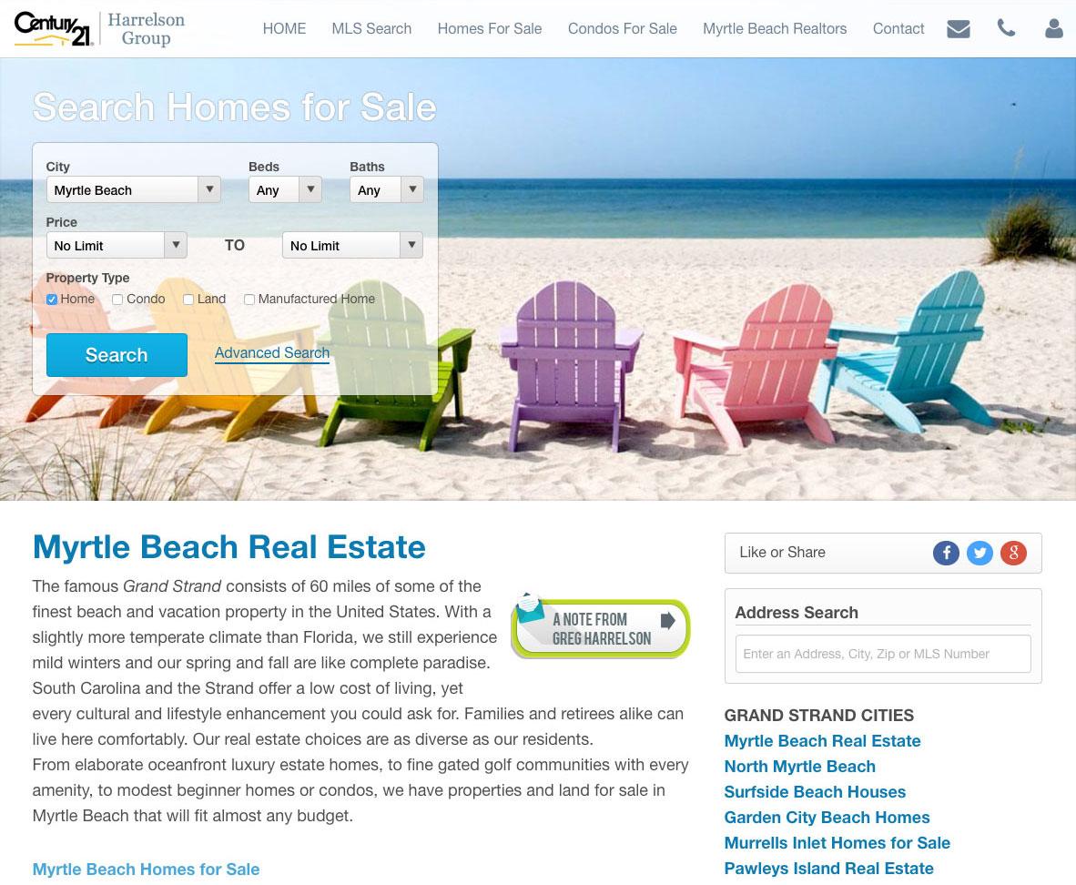 Real Geeks Pricing Example Website