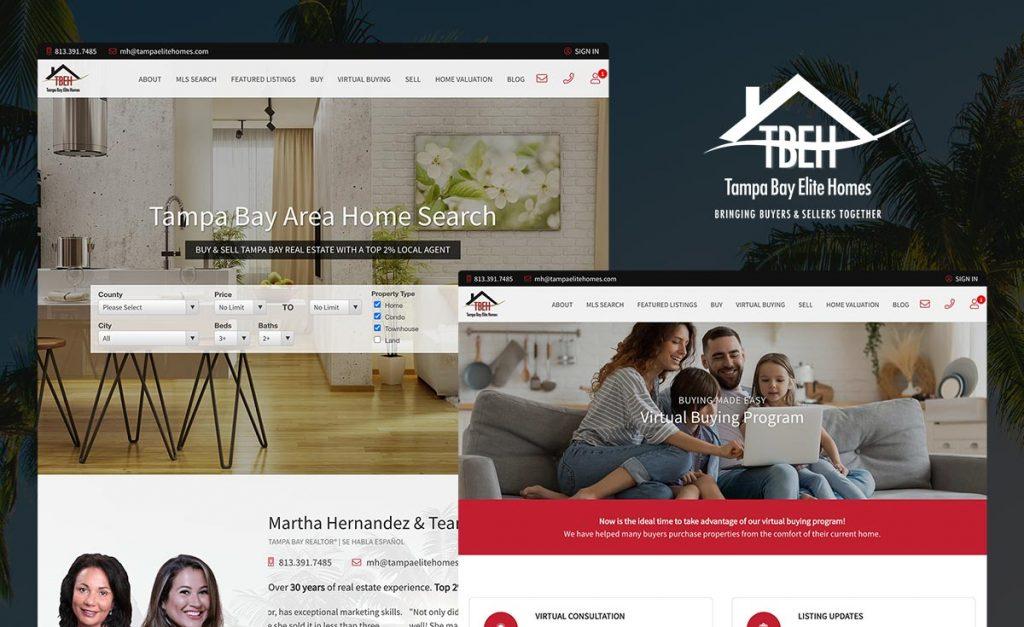 tampa bay elite homes - custom real geeks website