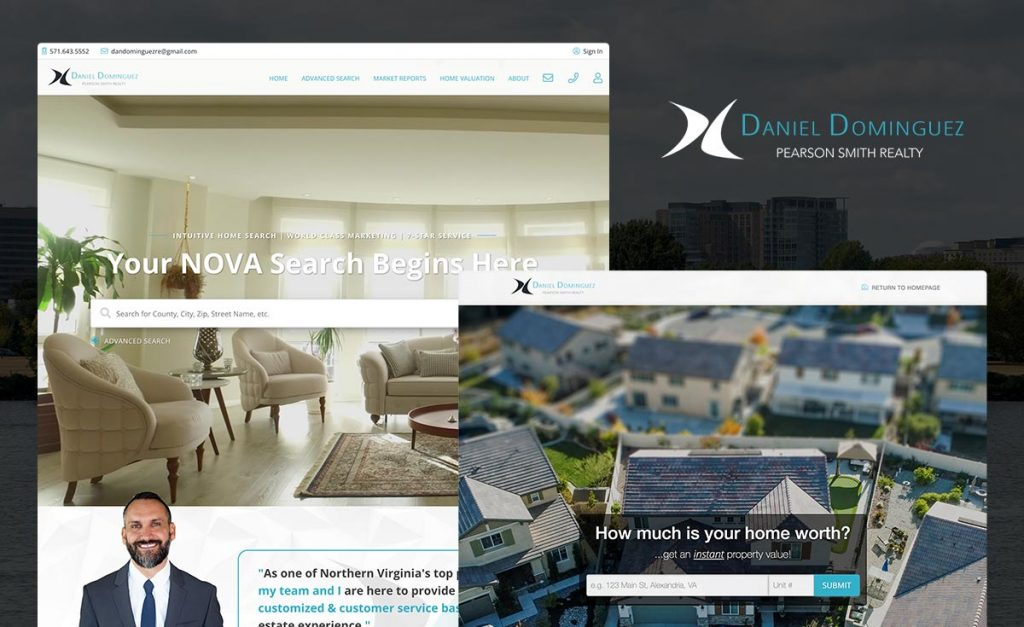 dominguez homes - custom real geeks website