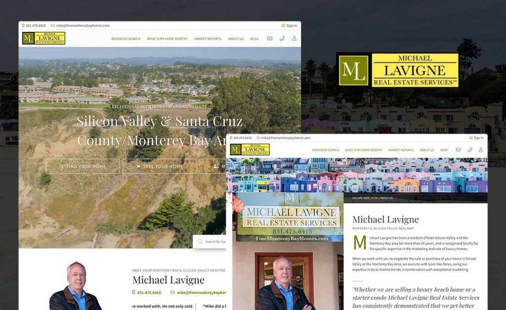 michael lavigne real estate services - real geeks website